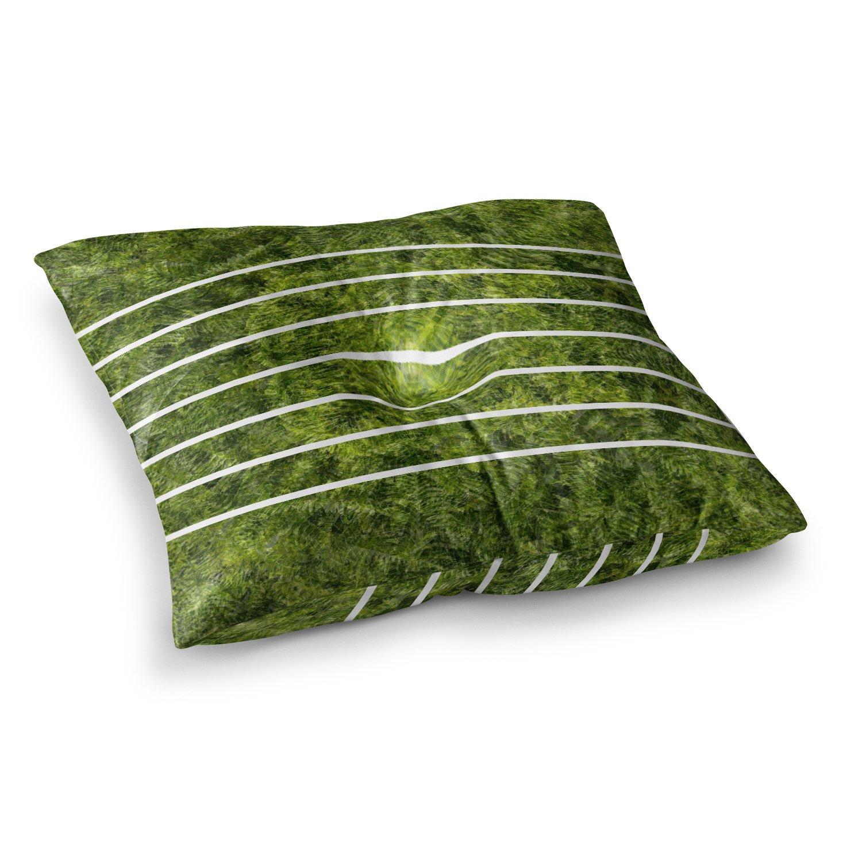 26 x 26 Square Floor Pillow Kess InHouse Trebam Paprat Green White Photography