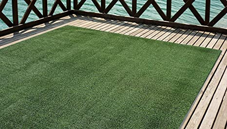 Mirtux - Cesped artificial Premium. Altura de 7mm. Rollos de 2x5 metros Para terraza, jardín, valla, piscina, perro etc (2x5)