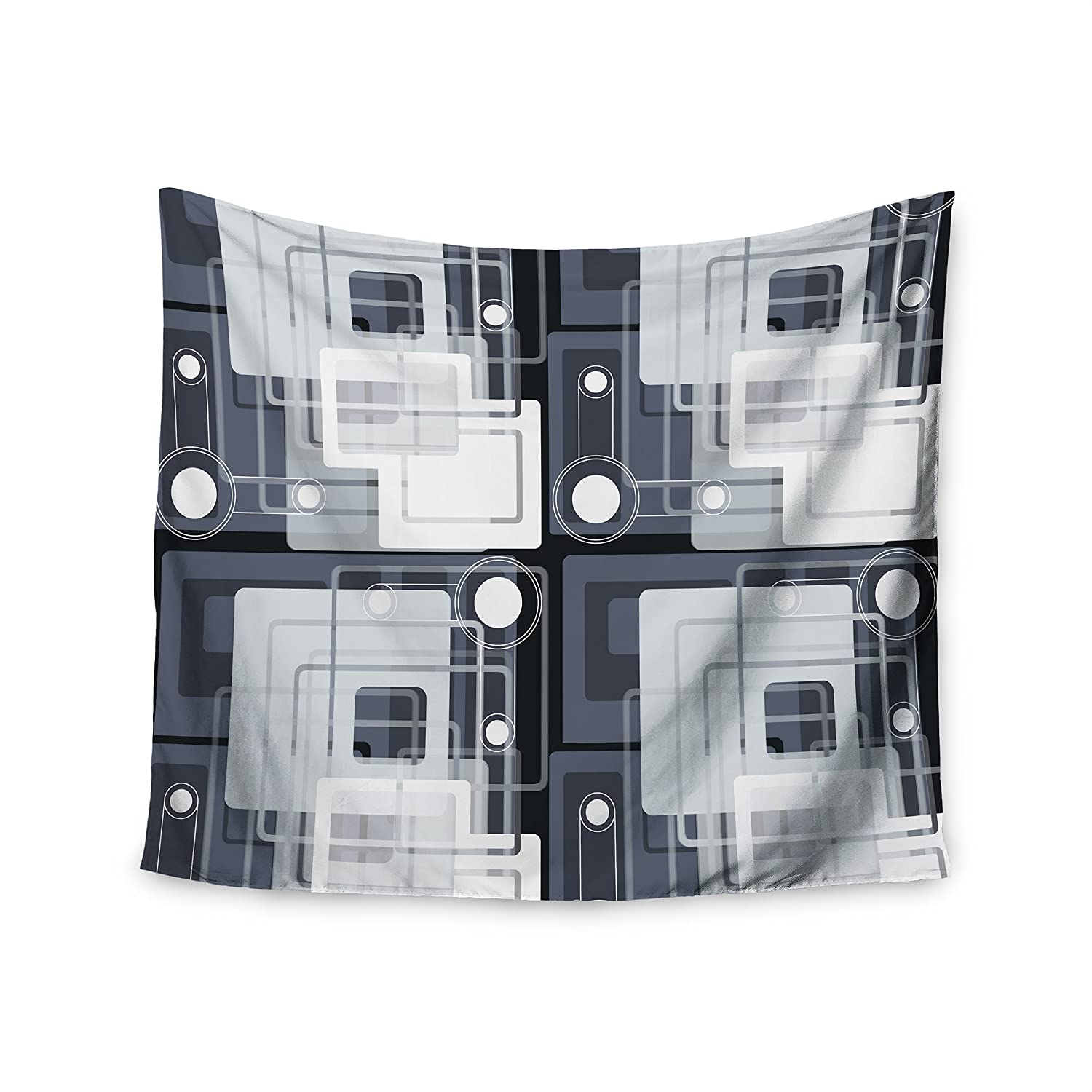 51 x 60 Wall Tapestry Kess InHouse Suzanne Carter Art Deco Gray White