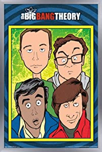 "Trends International Big Bang Theory-Geeks Wall Poster, 22.375"" x 34"", Silver Framed Version"