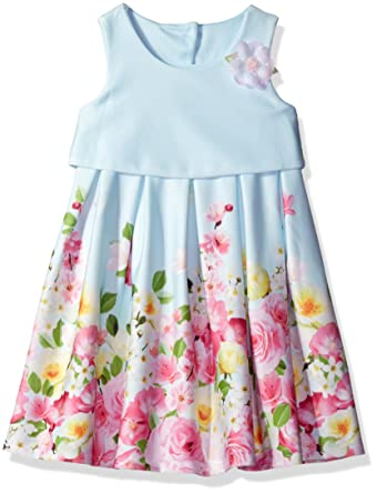 5f8c581704c Amazon.com  Bonnie Jean Little Girls  Sleeveless Popover to Mesh ...
