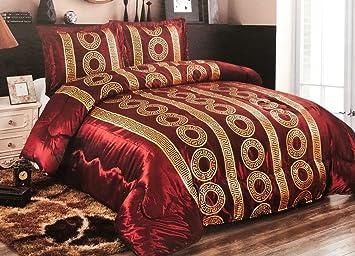 416f2c4f32e4dd Bavary Medusa Versac Tagesdecken Set 3 TLG. Elegant und Stillvoll Neuheit  und Luxus (Rot