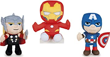 PACK 3 PELUCHES IRON MAN, THOR, CAPITAN AMERICA LOS ...
