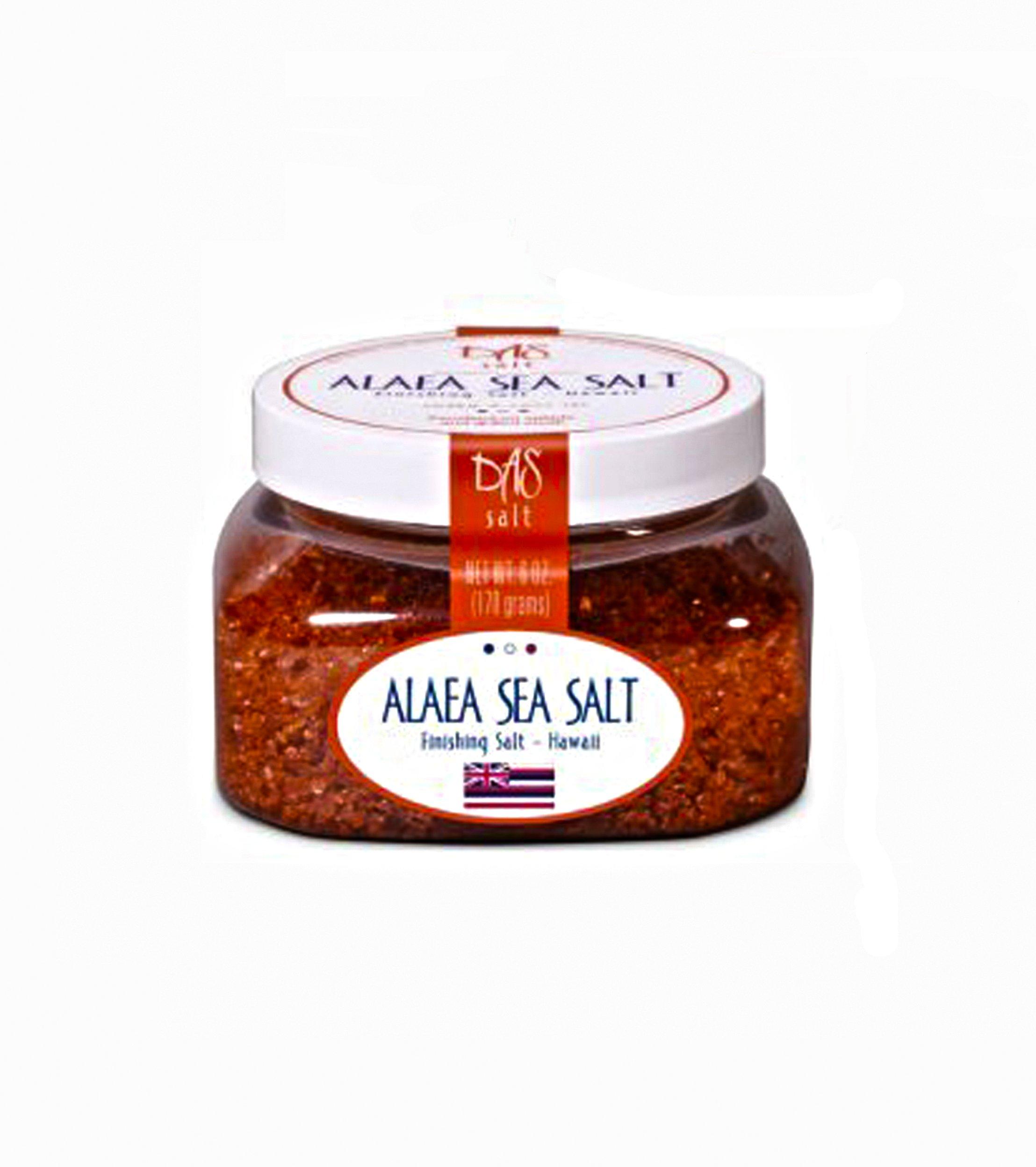 Das Foods Hawaiian Alaea Sea Salt- Sea Salt 6 Oz Jar
