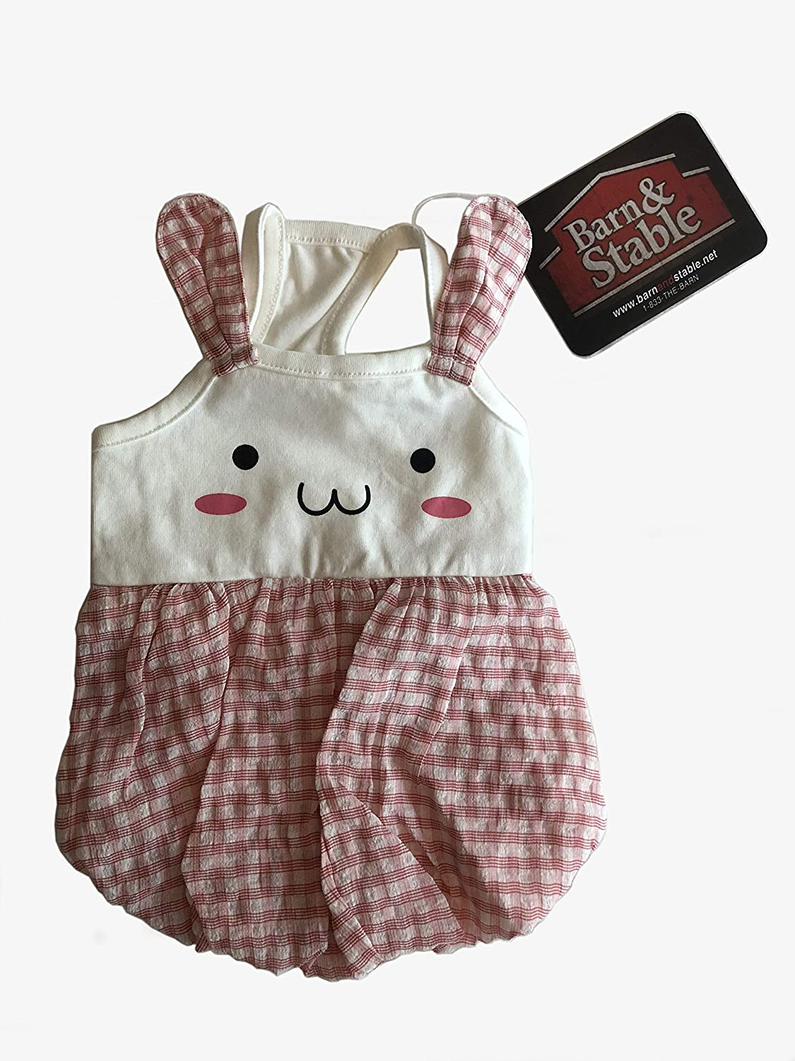 4f11736cca64 Amazon.com : Barn&Stable Cute Girly Pet Dog Cats Clothes/Dress Bunny Summer  Cotton : Sports & Outdoors