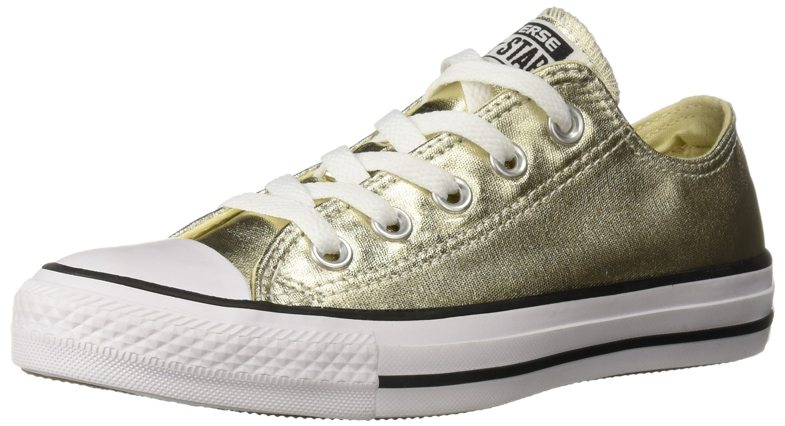 4e89e2badf2f Galleon - Converse Kids K All Star Low Shoes Light Gold White Black Size  10.5