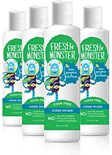 product image for Fresh Monster Kids Shampoo and Body Wash, 8.5 Ounce (Ocean Splash, 4 Count)