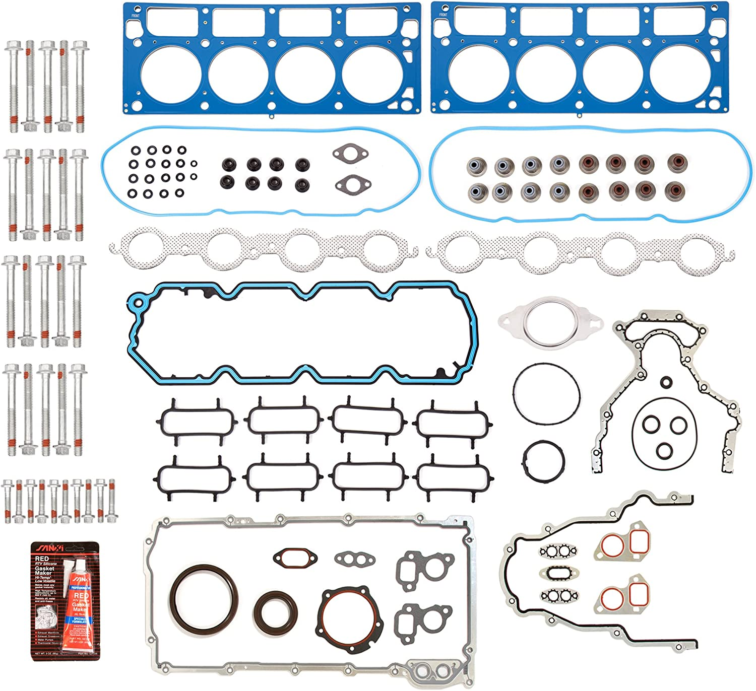 Evergreen FSHB8-10448-3 Full Gasket Set Head Bolt