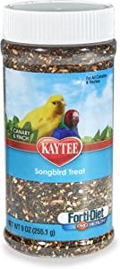 Kaytee Forti-Diet Pro Health Canary And Finch Songbird Treat, 9-Oz Jar