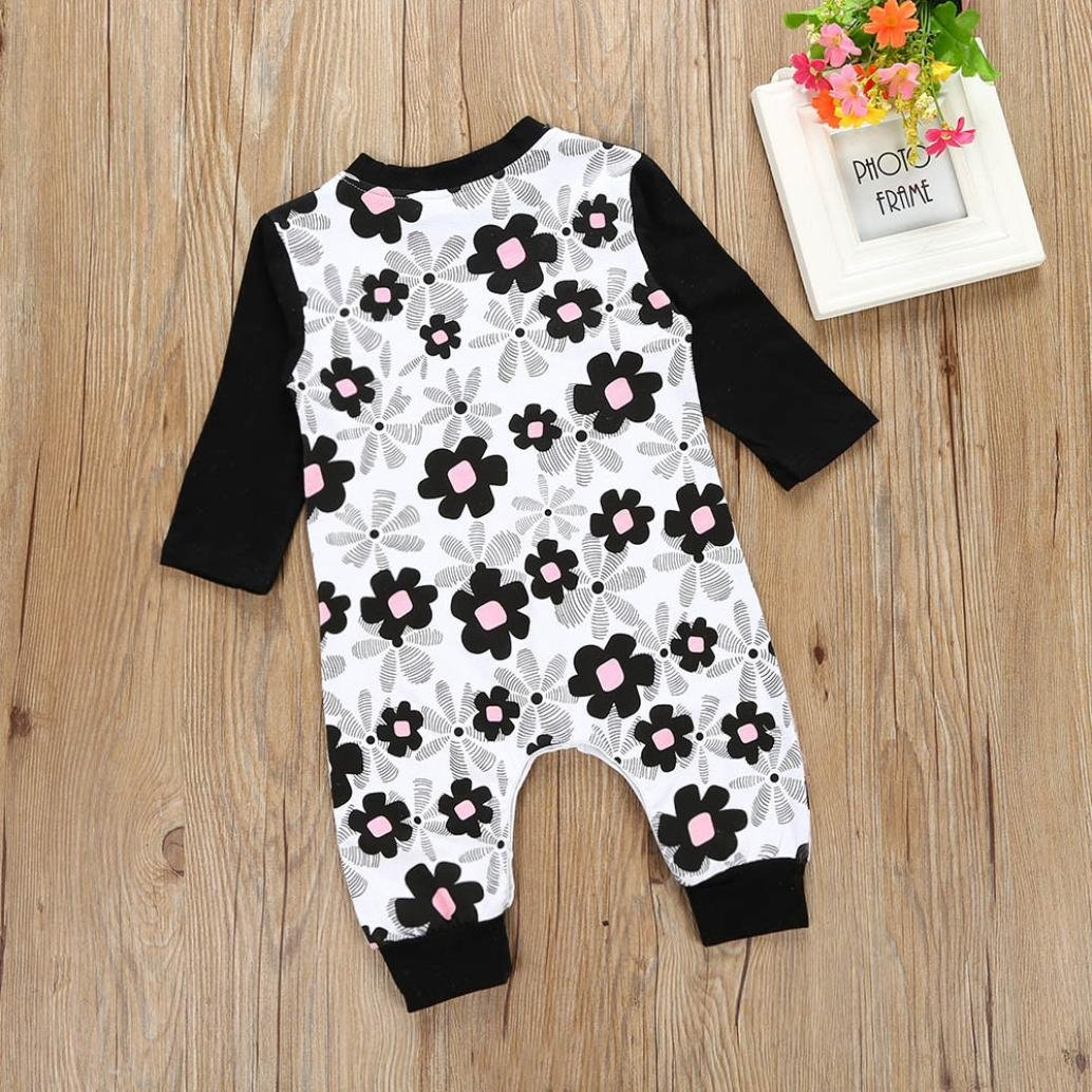 For 0-24 Months Baby DIGOOD Newborn Infant Baby Girl Long Sleeve Floral Jumpsuit Romper Outfits Clothes
