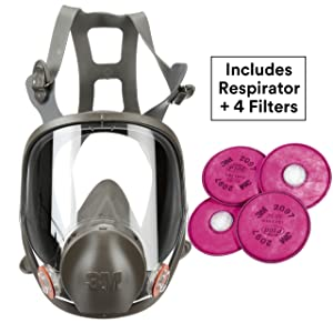 3M Respirator Kit, Full Face 6900, Reusable, Large, Plus 4 Particulate Filters 2097, P100 for Mold Remediation, Dust, Lead, Asbestos