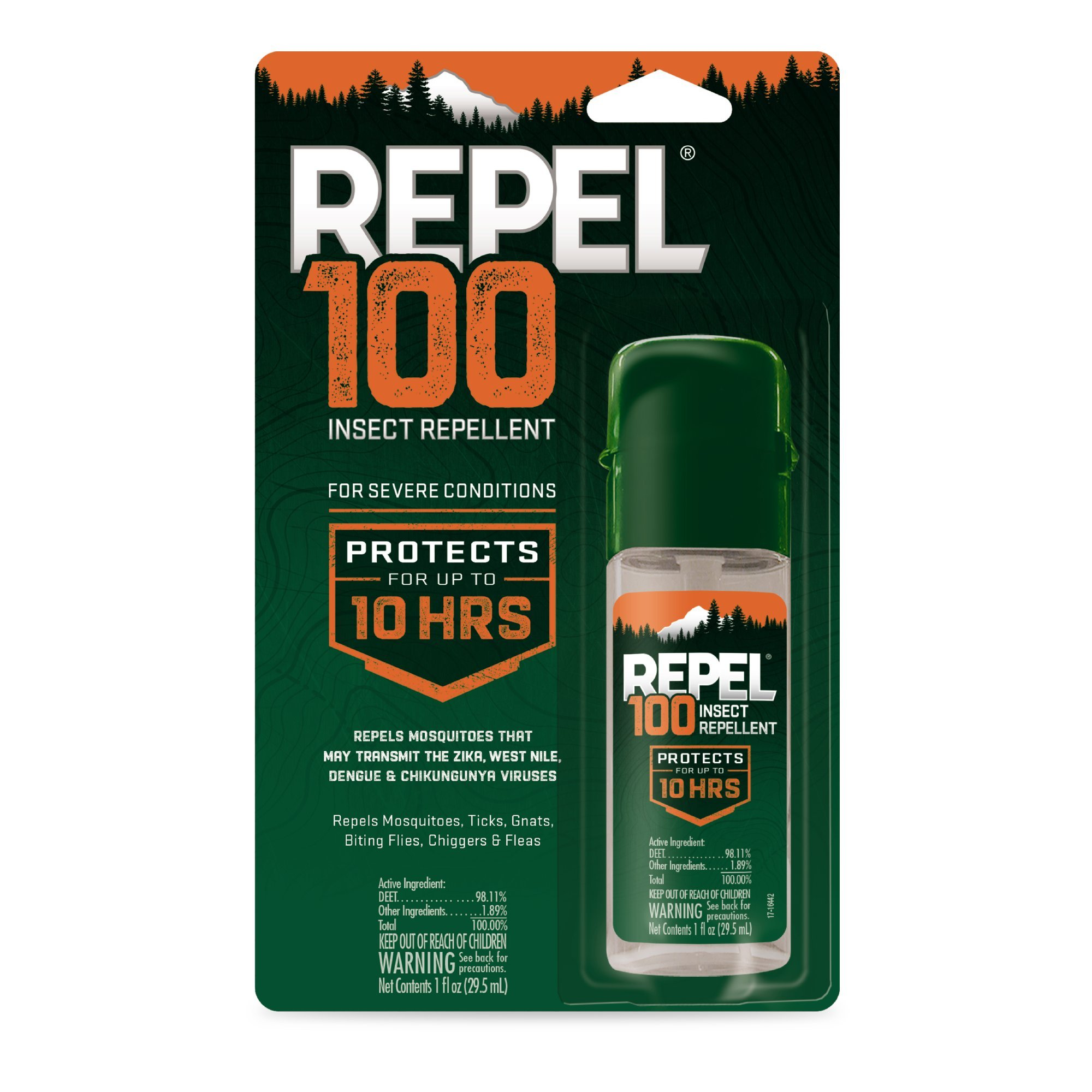 Repel 100 Insect Repellent, Pump Spray, 1-Ounce, 6-Pack by Repel