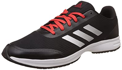 adidas Mens Ezar 40 M Cblack Silvmt and Corred Running Shoes  10 UK