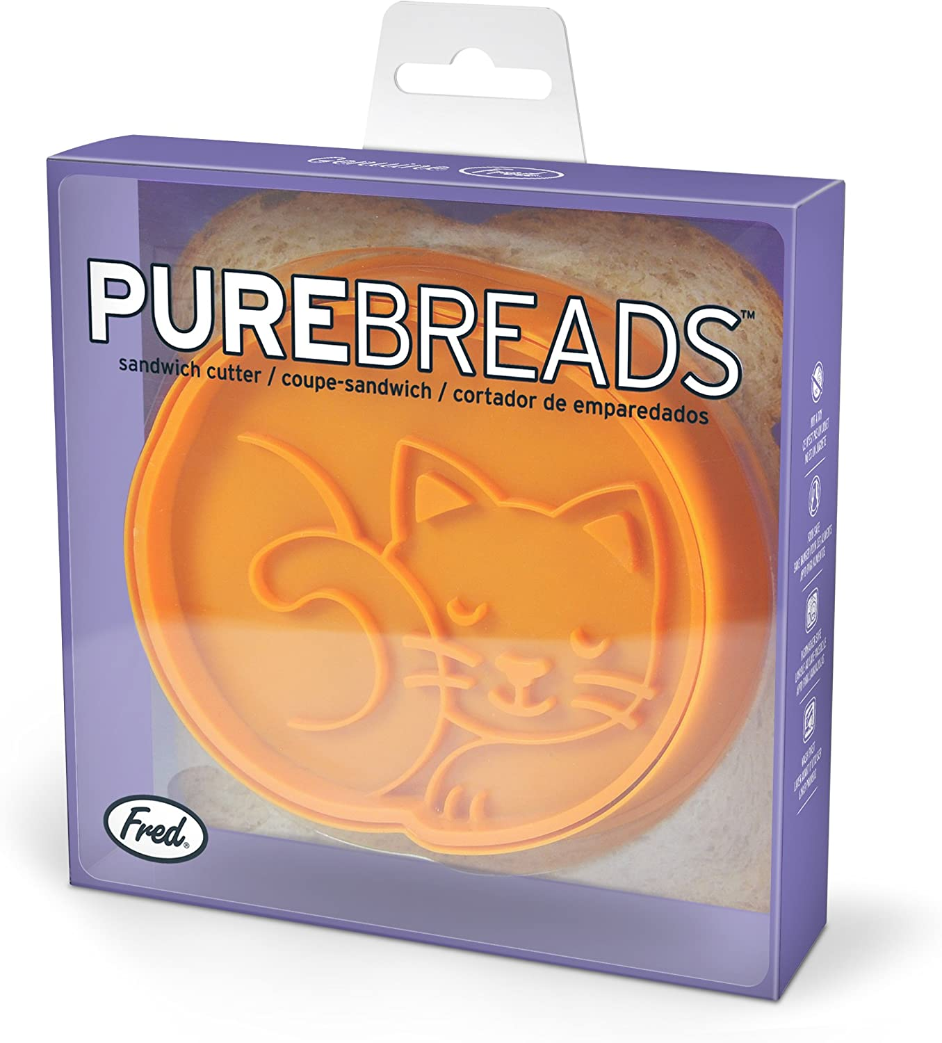 Cat Fred PUREBREADS Cut and Seal Sandwich Stamp