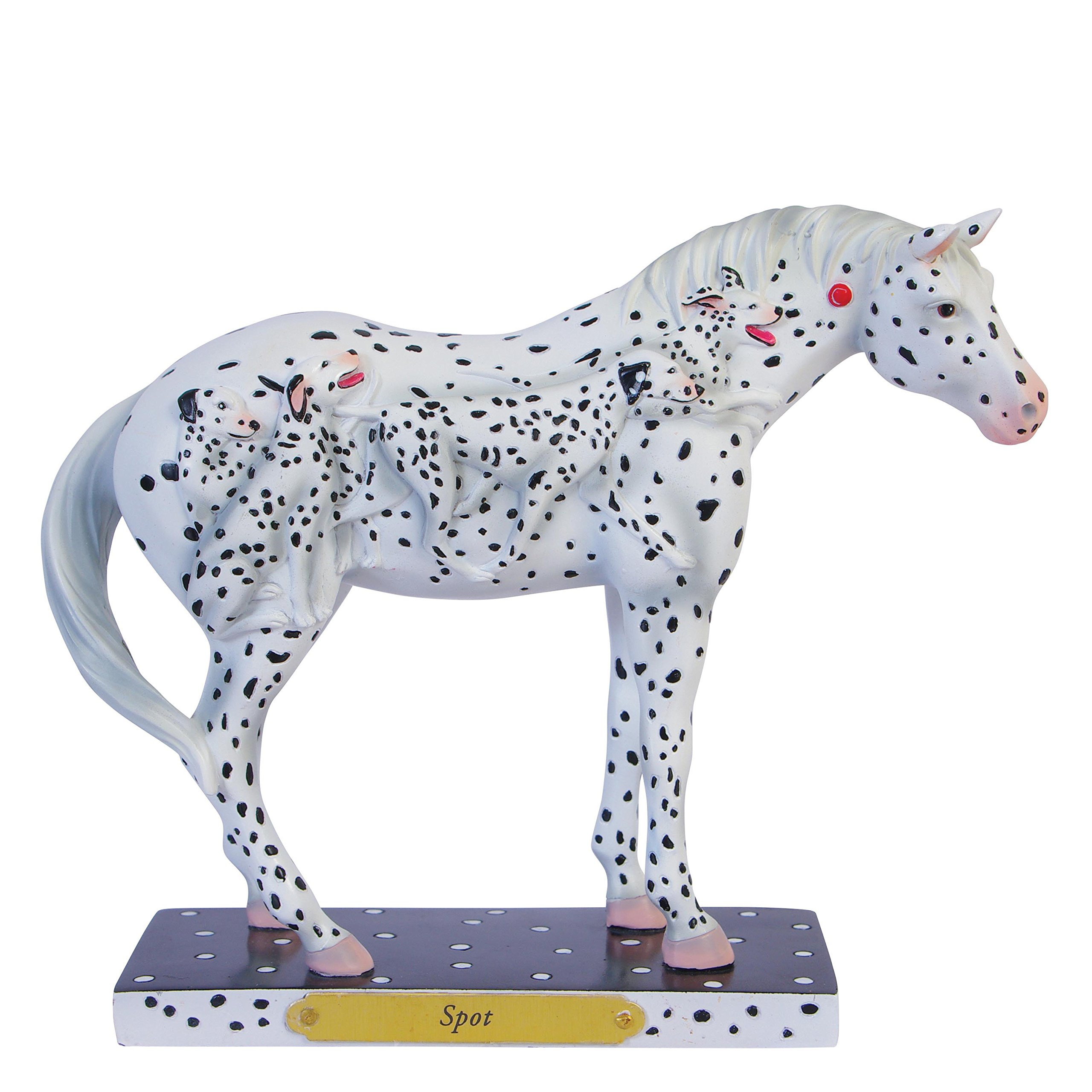 "Enesco Trail of Painted Ponies ""Spot"" Stone Resin Horse Figurine, 6"""