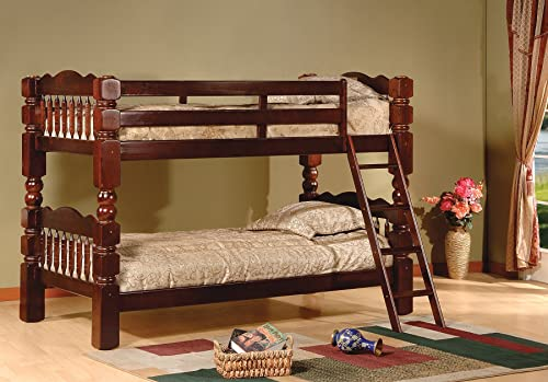 King's Brand Wood Convertible Bunk Bed