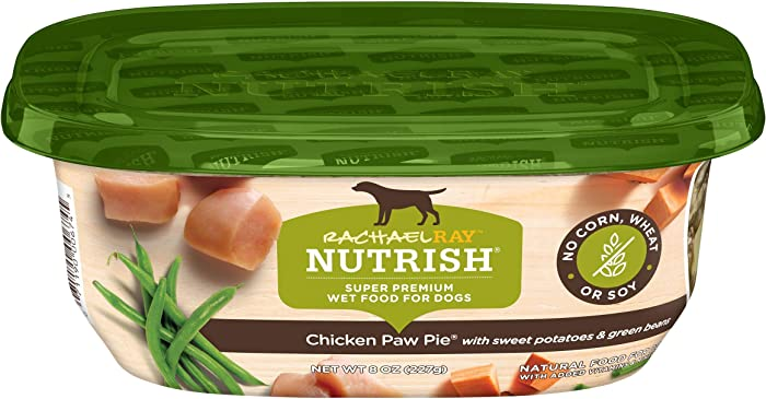 Rachael Ray Nutrish Premium Natural Wet Dog Food, Chicken Paw Pie with Sweet Potatoes & Green Beans, 8 Ounce Tub (Pack of 8)