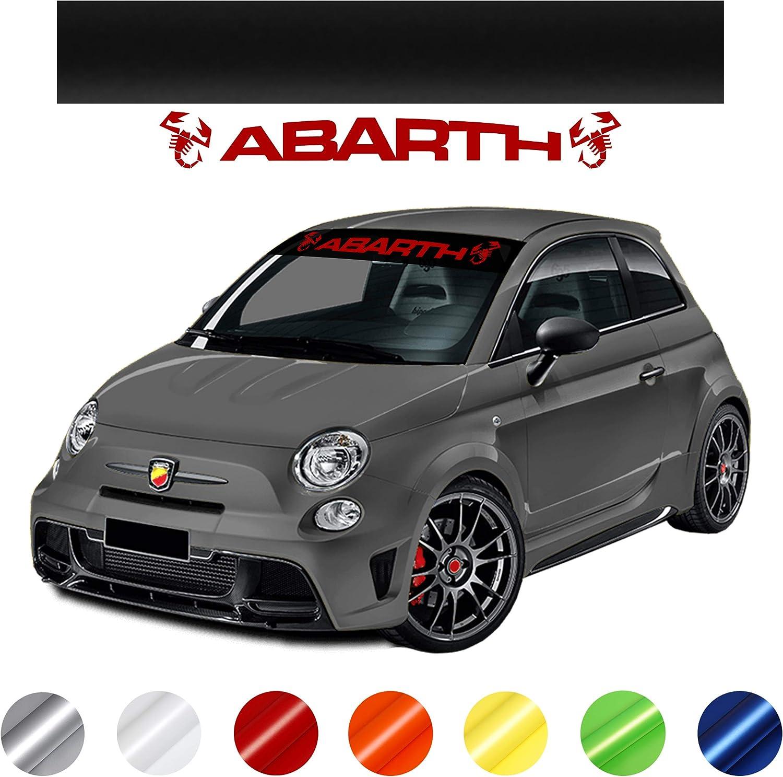 Carlab Sonnenblende Abarth Selbstklebend Für Abarth 500 595 695 Sticker Gegen Blasen Matt Oder Glänzend Blutrot Auto