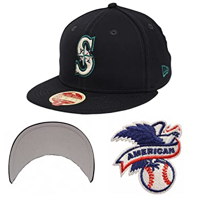 watch ce69a 236b7 New Era 59Fifty Wool Standard Seattle Mariners Navy Fitted Cap (7 3 4)