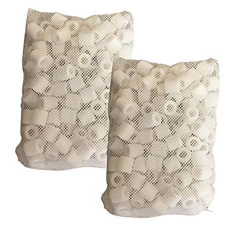 QCKJ Anillos de cerámica para acuario, filtros de bio, anillos de cerámica premium para