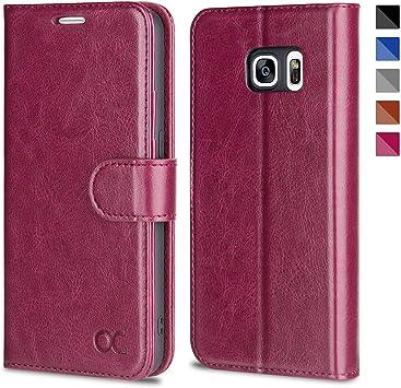 DENDICO Coque Galaxy S7 Premium Coque en Cuir Portefeuille Etui pour Samsung Galaxy S7 Anti Choc Flip Housse avec Emplacement de Cartes Bleu