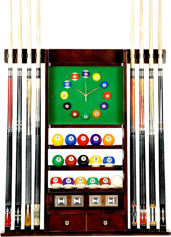 Cue rack Only – 8 piscina billar Stick & Ball – Reloj de pared ...