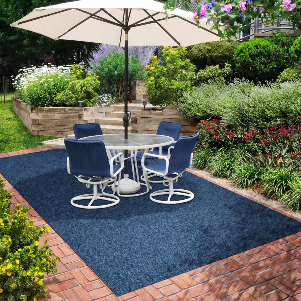 Amazon indooroutdoor carpet with rubber marine backing amazon indooroutdoor carpet with rubber marine backing blue 6 x 10 several sizes available carpet flooring for patio porch deck boat baanklon Gallery