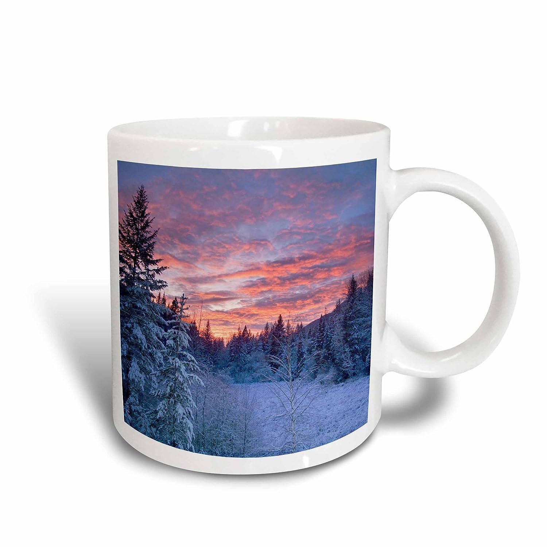 Flathead National Forest of Montana-Us27 Cha1938-Chuck Haney Ceramic Mug 15 oz White Meadow 3dRose 91913/_2 Winter