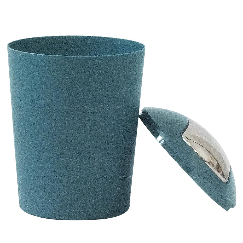 Plastic 19.5 x 19.5 x 29 cm petrol KECKU Marta Swing Top Bin Plastic