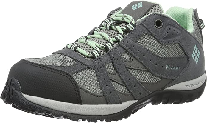 Columbia Youth Redmond Waterproof, Zapatillas de Deporte Exterior para Niñas, Gris (Monument/Sea Ice), 38 EU: Amazon.es: Zapatos y complementos