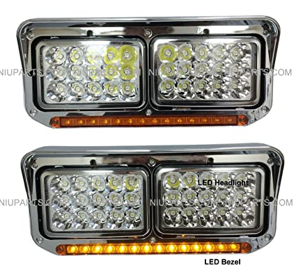 Led headlights with 12 amberamber led light strip chrome driver led headlights with 12quot amberamber led light strip chrome driver passenger aloadofball Image collections