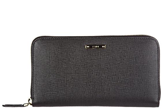 collection entière comment chercher grande remise Fendi portefeuille porte-monnaie femme en cuir deux plis ...
