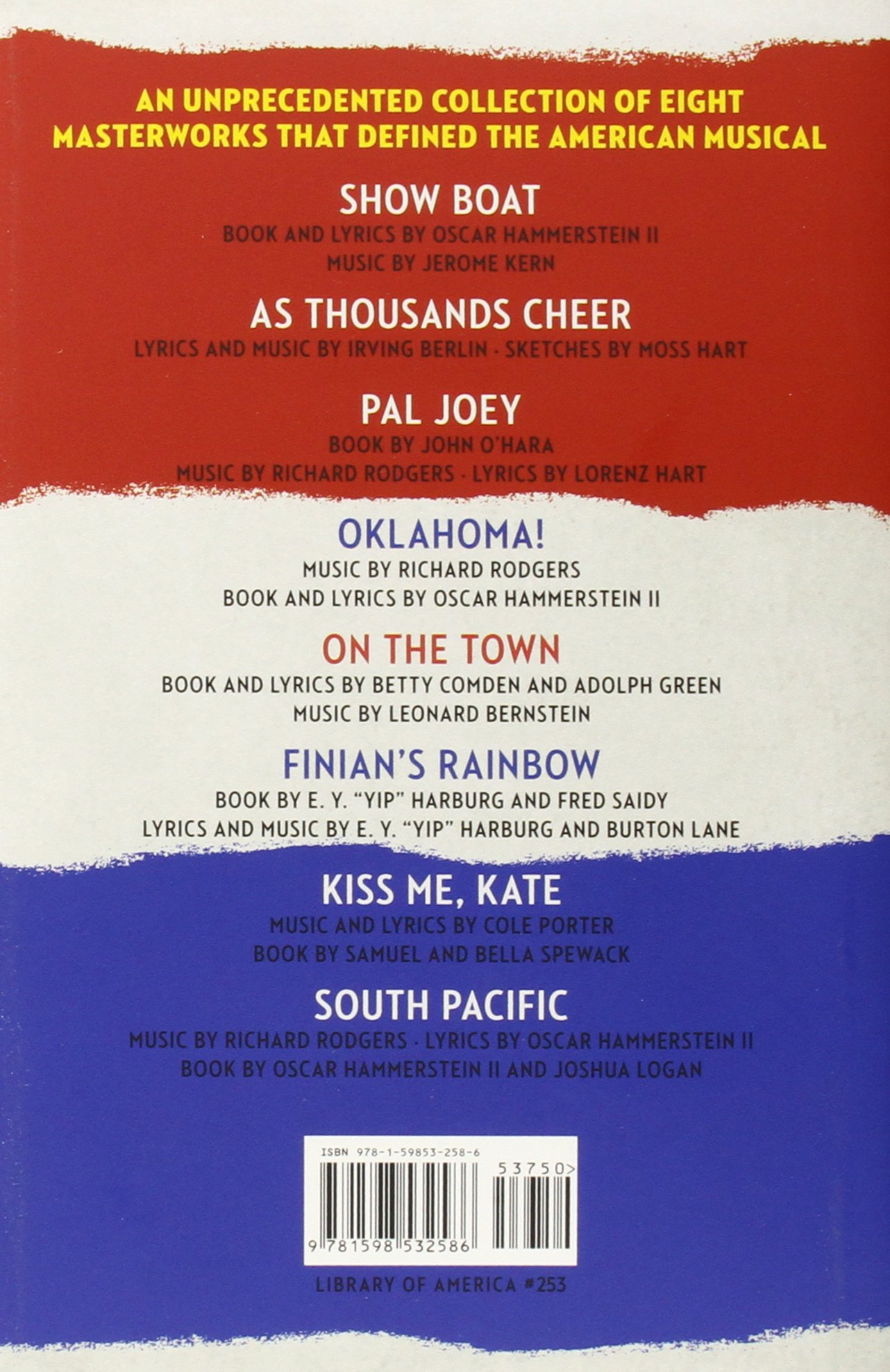 American Musicals The plete Books and Lyrics of Sixteen