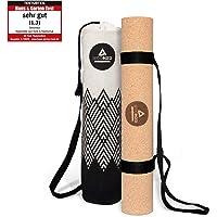 Secoroco Yogamat van kurk – antislip – 3 mm dik – veganistisch, duurzaam en recyclebaar – yogamat van kurk & rubber…