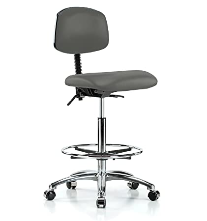 Fabulous Amazon Com Perch Chrome Rolling Laboratory Chair With Machost Co Dining Chair Design Ideas Machostcouk