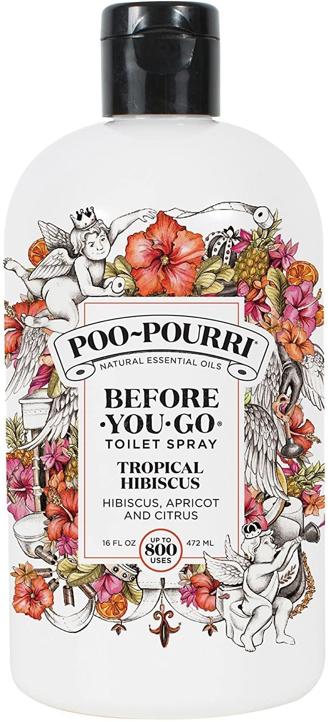 Poo-Pourri Before-You-Go Toilet Spray 16-Ounce Refill Bottle, Tropical Hibiscus