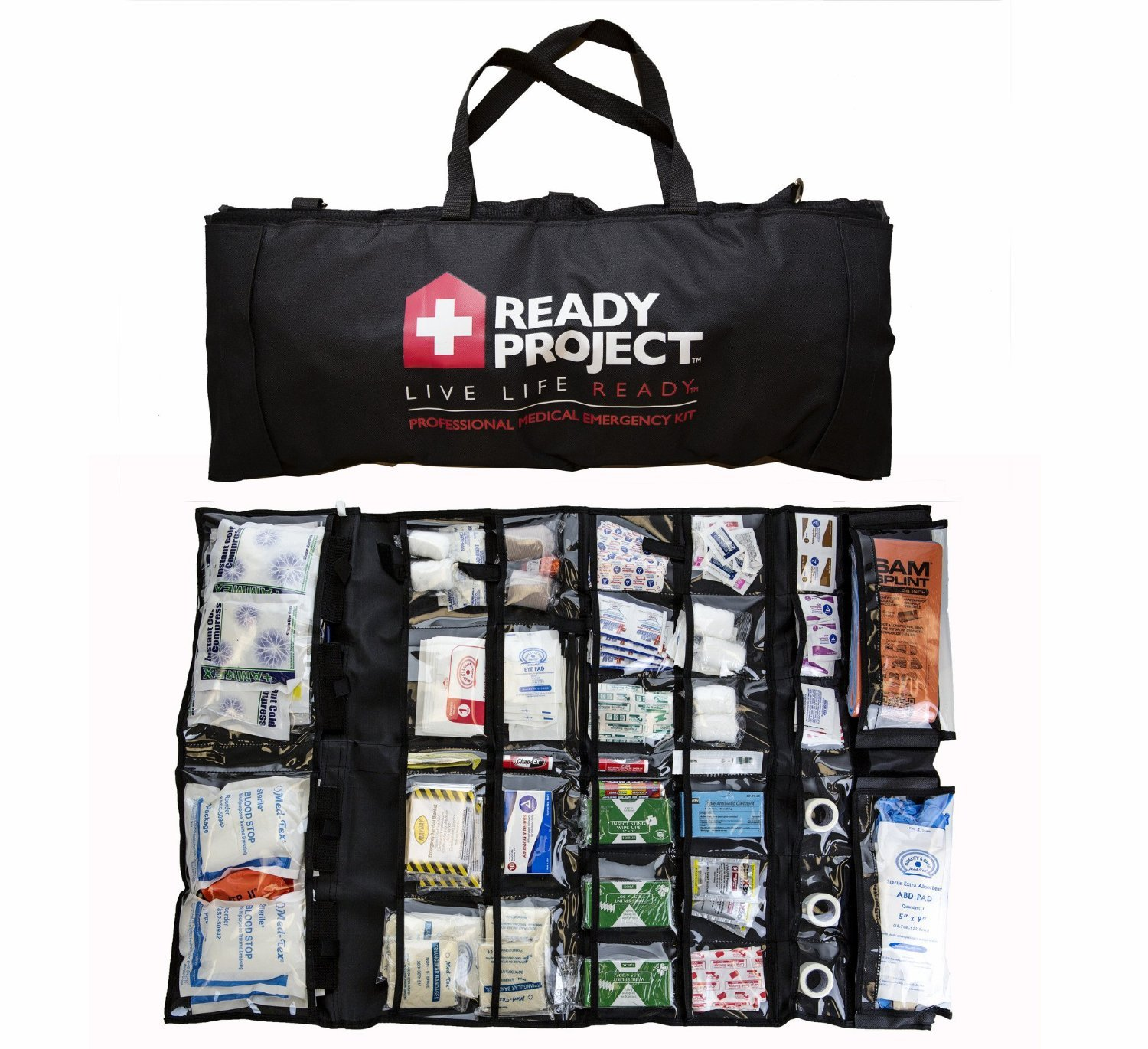 Professional Medical Emergency Kit – All-In-One Life Saving Portable Survival Kit - Emergency Preparedness Essential Package for life
