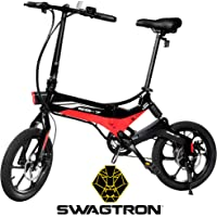 Swagtron EB-7 Long-Range Folding Electric Bike (Black) + $120 Kohls Cash