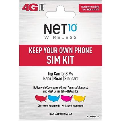 Amazon.com: net10 – Bring Your Own teléfono tarjeta SIM Kit