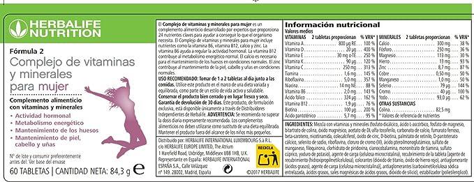 HERBALIFE F2 Complejo de vitaminas y minerales para mujer ...