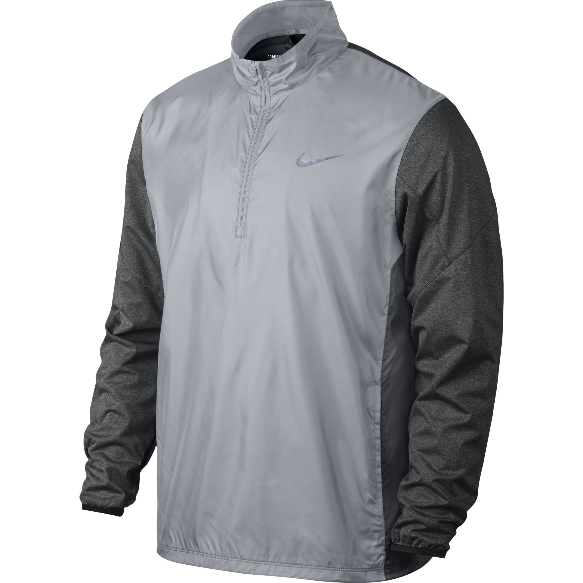 Nike 1/2 Zip Shield Top Golf Pullover 2016 Wolf Grey/Charcoal Heather/Wolf Grey/Reflect Black Small