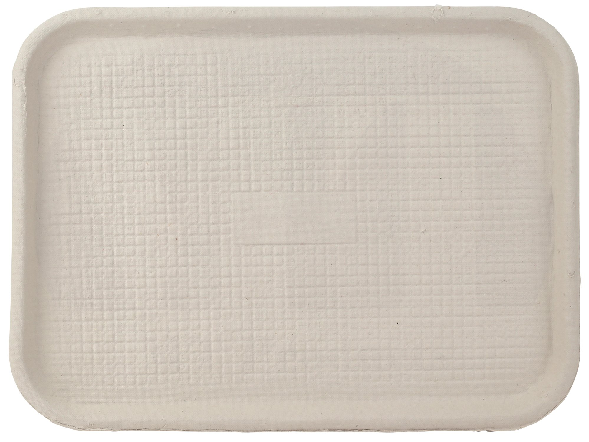 12'' x 16'' White Molded Fiber/Pulp Rectangular Food/Cafeteria Tray by MT Products - (15 Pieces)