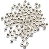Metal Spacer Beads - Silver/Gold Plated - 4mm