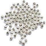 Perles d'Espacement en Métal - Argenté 4mm - Quantité 200