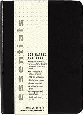 Esstentials Small Black Dot Matrix Notebook (Diary, Journal)