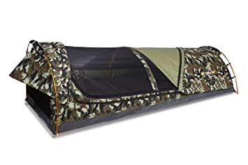 d39184b78aa5f Mitchell Tactix Swag - Autentica tienda SWAG australiana 90x210x70cm con  colchoneta de 6cm incluida. Camuflaje.  Amazon.es  Deportes y aire libre