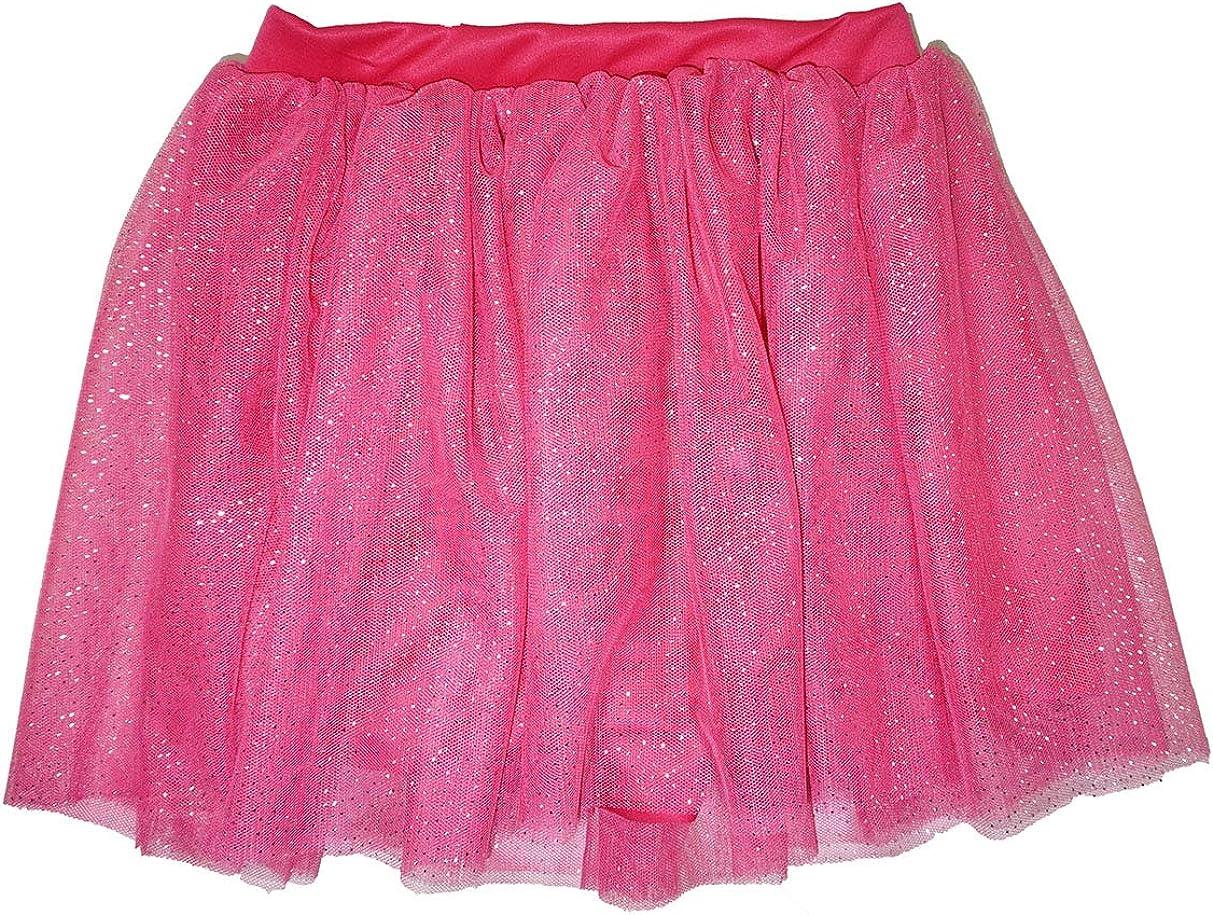 Pink Nickelodeon JoJo Siwa 2-Piece Set of Stripe Flutter Sleeve Top and Tutu Skirt Fuchsia /& White Size 4-6X 4