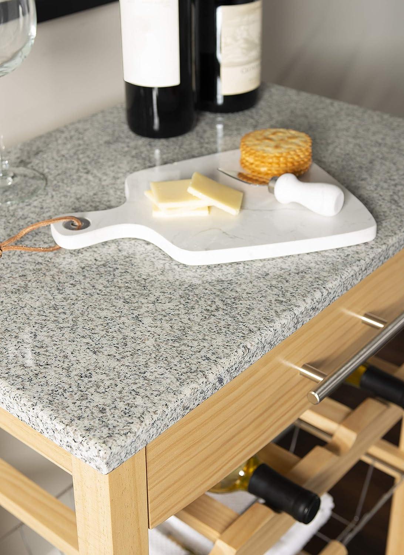 "Linon Kitchen Island Granite Top, 33.88"" x 22.8"" x 15.63"", Natural - Kitchen Islands & Carts"