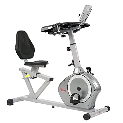Sunny Health & Fitness Magnetic Recumbent Desk Exercise Bike SF-RBD4703