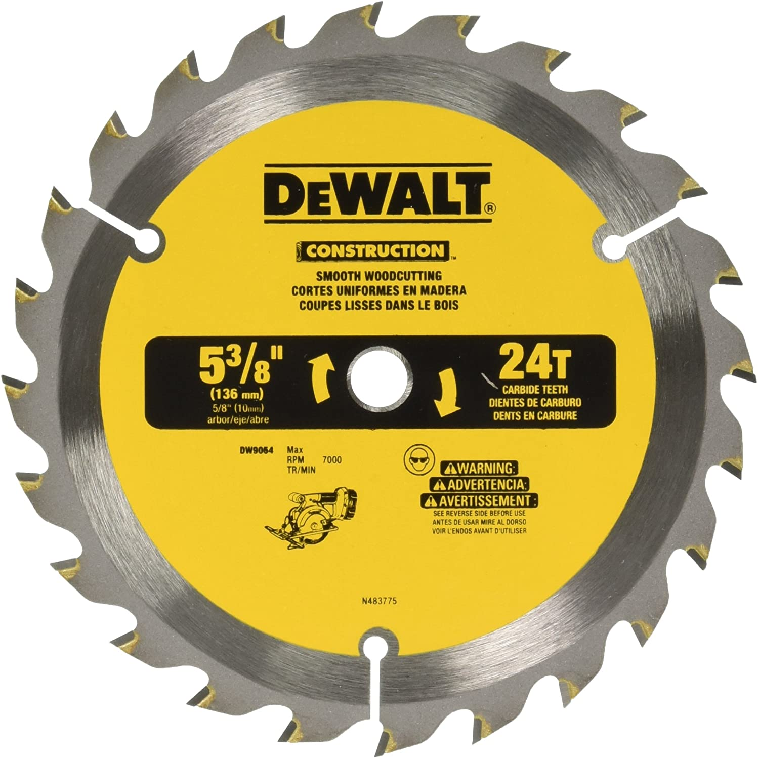 Freud D0536X Diablo 5-3//8-Inch 36 Tooth ATB Finish Cordless Trim Saw Blade